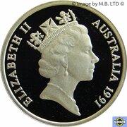 5 Cents - Elizabeth II (3rd Portrait -  Masterpieces in Silver Proof) -  obverse