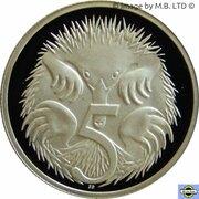 5 Cents - Elizabeth II (3rd Portrait -  Masterpieces in Silver Proof) -  reverse