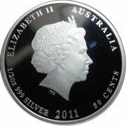 50 Cents - Elizabeth II (4th Portrait - Bush Babies II - Bilby) -  obverse