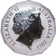 50 Cents - Elizabeth II (4th Portrait - Year of the Horse - Silver Proof) – obverse
