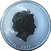 50 Cents - Elizabeth II (4th Portrait - Year of the Pig - Silver Bullion Coin) – obverse