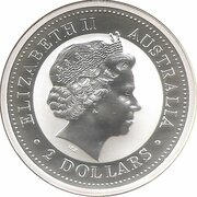 2 Dollars - Elizabeth II (4th Portrait - Australian Kookaburra - Roman Silver Antoninianus) -  obverse
