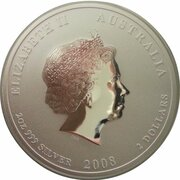 2 Dollars - Elizabeth II (Year of the Mouse -  Silver Bullion Coin) -  obverse