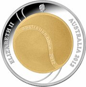 2 Dollars  - Elizabeth II (4th Portrait - Australian Open) -  obverse