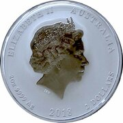 2 Dollars - Elizabeth II (4th Portrait - Year of the Dog - Silver Bullion Coin) -  obverse
