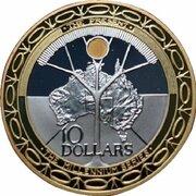10 Dollars - Elizabeth II (4th Portrait - Millennium - The Present) -  reverse