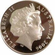 5 Dollars - Elizabeth II (4th Portrait - Jeffrey Smart - Masterpieces in Silver) -  obverse