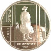 5 Dollars - Elizabeth II (4th Portrait - Russell Drysdale - Masterpieces in Silver) -  reverse
