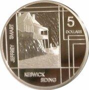 5 Dollars - Elizabeth II (4th Portrait - Jeffrey Smart - Masterpieces in Silver) -  reverse