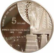 5 Dollars - Elizabeth II (4th Portrait - Grace Cossington Smith - Masterpieces in Silver) – reverse
