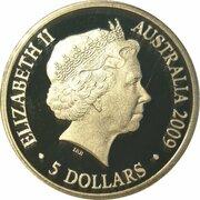 5 Dollars - Elizabeth II (4th Portrait - Aurora Australis - Silver Proof) -  obverse
