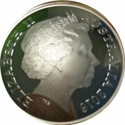 5 Dollars - Elizabeth II (4th Portrait - Northern Sky - Cygnus - Silver Domed) -  obverse