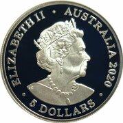 5 Dollars - Elizabeth II (6th Portrait - End of World War II) -  obverse
