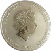 8 Dollars - Elizabeth II (4th Portrait - Year of the Ox - Silver Bullion Coin) -  obverse