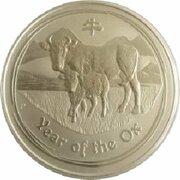 8 Dollars - Elizabeth II (4th Portrait - Year of the Ox - Silver Bullion Coin) -  reverse