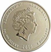 8 Dollars - Elizabeth II (4th Portrait - Year of the Monkey - Silver Bullion Coin) -  obverse