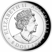 8 Dollars - Elizabeth II (6th Portrait - Australian Kangaroo - Silver Bullion Coin) -  obverse