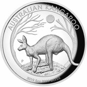 8 Dollars - Elizabeth II (6th Portrait - Australian Kangaroo - Silver Bullion Coin) -  reverse