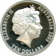 10 Dollars - Elizabeth II (4th Portrait - Port Phillip Patterns - Masterpieces in Silver) -  obverse