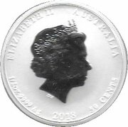 50 Cents - Elizabeth II (4th Portrait - Year of the Dog - Colourised) -  obverse