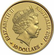 10 Dollars - Elizabeth II (4th Portrait - Year of the Pig - Gold Proof) -  obverse