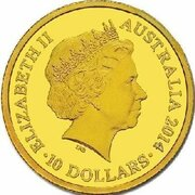 10 Dollars - Elizabeth II (4th Portrait - Year of the Horse - Gold Proof) -  obverse