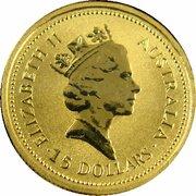 15 Dollars - Elizabeth II (3rd Portrait - Australian Kangaroo - Gold Bullion Coin) -  obverse
