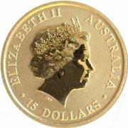 15 Dollars - Elizabeth II (4th Portrait - Kangaroo -Gold Bullion Coin) -  obverse