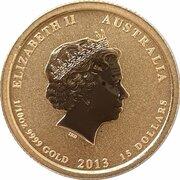 15 Dollars - Elizabeth II (4th Portrait - Australia/American Memorial - Gold bullion Coin) -  obverse