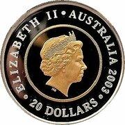 20 Dollars - Elizabeth II (4th Portrait - Golden Jubilee Coronation - Bi-Metalic Proof) -  obverse