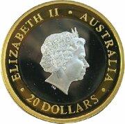 20 Dollars - Elizabeth II (4th Portrait - Gregorian Millennium - Bi-Metalic) – obverse