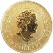 50 Dollars - Elizabeth II (6th Portrait - Kangaroo - Gold Bullion Coin) -  obverse