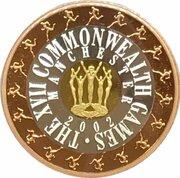 50 Dollars - Elizabeth II (4th Portrait - Commonwealth Games 2002 - Tri-Metalic) -  reverse