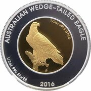 50 Dollars  - Elizabeth II (4th Portrait - Australian Wedge-Tailed Eagle - Bi-Metalic) -  reverse
