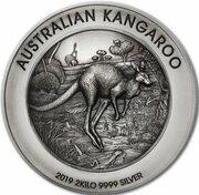 60 Dollars - Elizabeth II (6th Portrait - Australian Kangaroo - Silver Antiqued) -  reverse