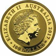 100 Dollars - Elizabeth II (4th Portrait - Australian Swan - Gold Bullion Coin) -  obverse