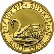 100 Dollars - Elizabeth II (4th Portrait - Australian Swan - Gold Bullion Coin) -  reverse