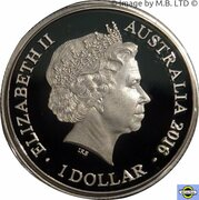 1 Dollar - Elizabeth II (4th Portrait - Year of the Monkey - Silver Proof) -  obverse
