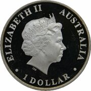1 Dollar - Elizabeth II (4th Portrait - World Youth Day - Silver Proof) -  obverse