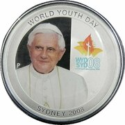 1 Dollar - Elizabeth II (4th Portrait - World Youth Day - Silver Proof) -  reverse