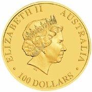 100 Dollars - Elizabeth II (4th Portrait - World Youth Day - Gold Proof) -  obverse