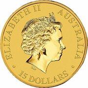 15 Dollars - Elizabeth II (4th Portrait - Kangaroo - Gold Bullion Coin) -  obverse
