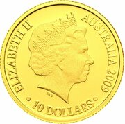 10 Dollars - Elizabeth II (4th Portrait - Year of the Ox - Gold Proof) -  obverse