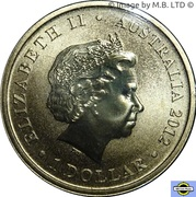 1 Dollar - Elizabeth II (4th Portrait - Merry Christmas) -  obverse