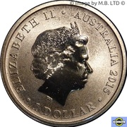 1 Dollar - Elizabeth II (4th Portrait - Merry Christmas) – obverse