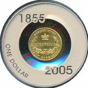 1 Dollar - Elizabeth II (4th Portrait - Sydney Mint Half Sovereign) -  obverse