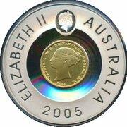 1 Dollar - Elizabeth II (4th Portrait - Sydney Mint Half Sovereign) -  reverse