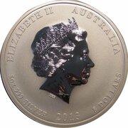 8 Dollars - Elizabeth II (4th Portrait - Year of the Snake - Silver Bullion Coin) -  obverse