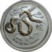 8 Dollars - Elizabeth II (4th Portrait - Year of the Snake - Silver Bullion Coin) -  reverse