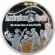 1 Dollar - Elizabeth II (4th Portrait - Australian Open Tennis - Silver Proof) -  reverse